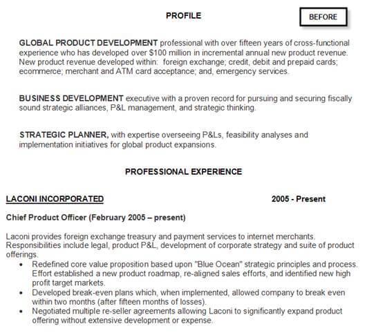 Resume Example Before Resume Help