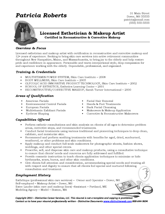 Sample resume with graphics