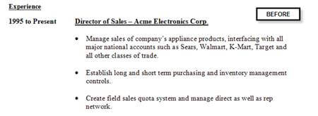 Resume example not enough detail