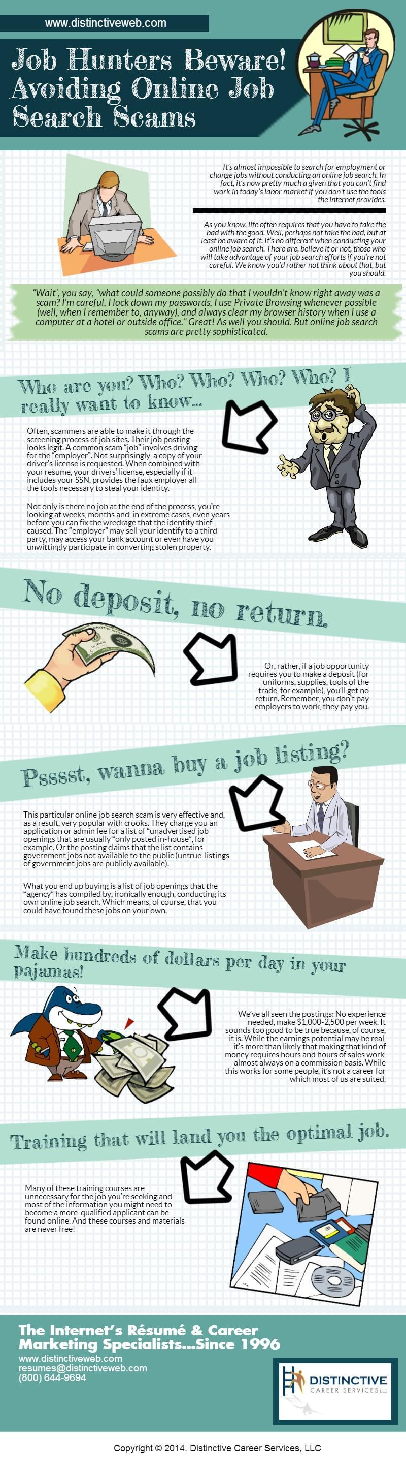 Job Hunters Beware! Avoiding Online Job Search Scams