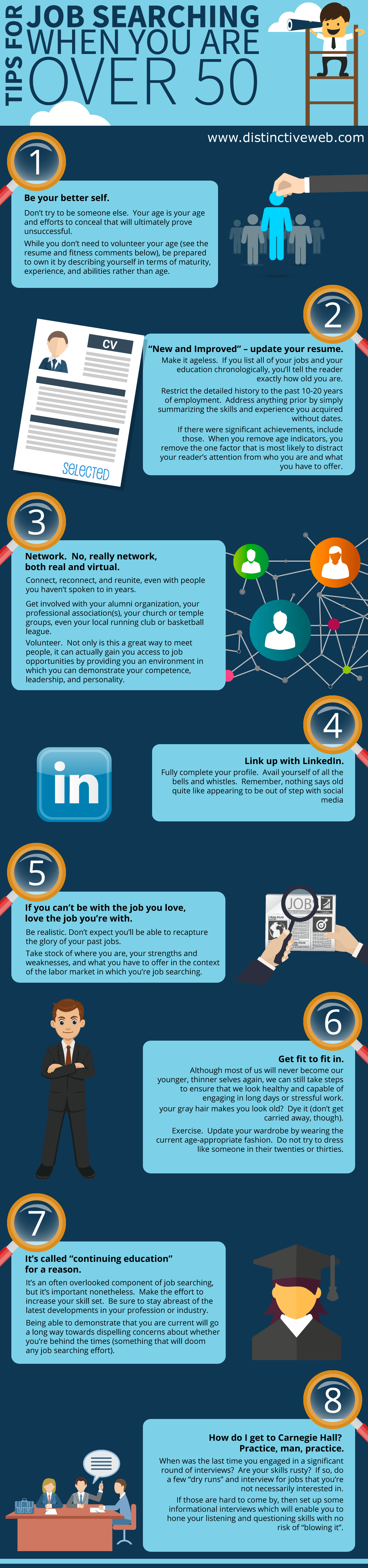 Jobs over 50 infographic