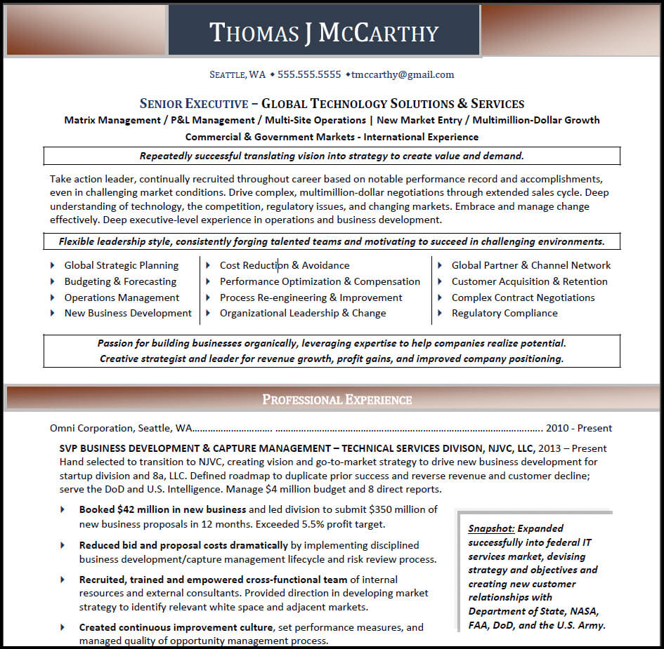 How To Create A Resume: Broader Focus