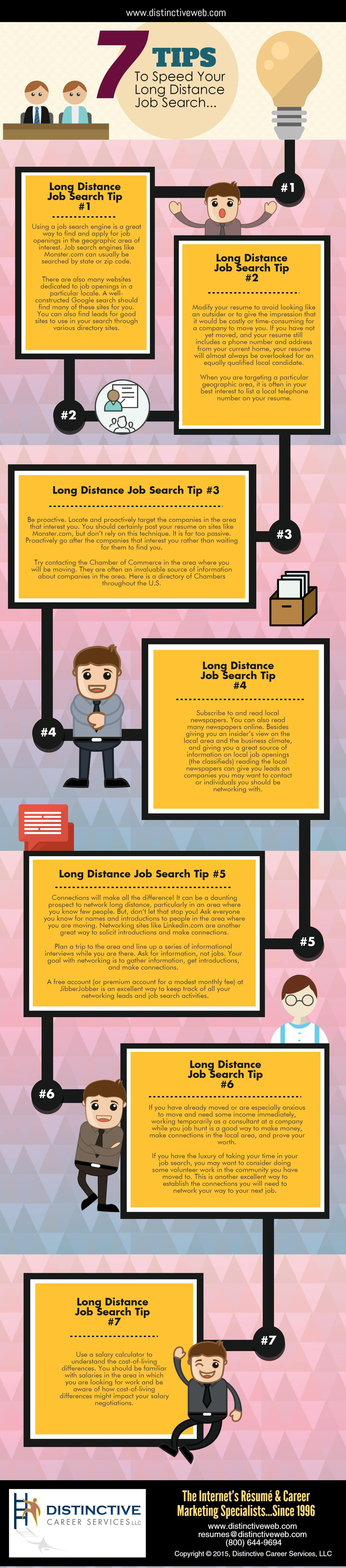 7 Tips To Speed Your Long Distance Job Search