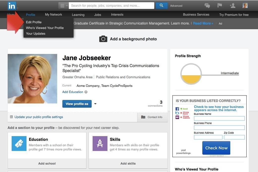 Job Seekers Update LinkedIn Profile Image 1