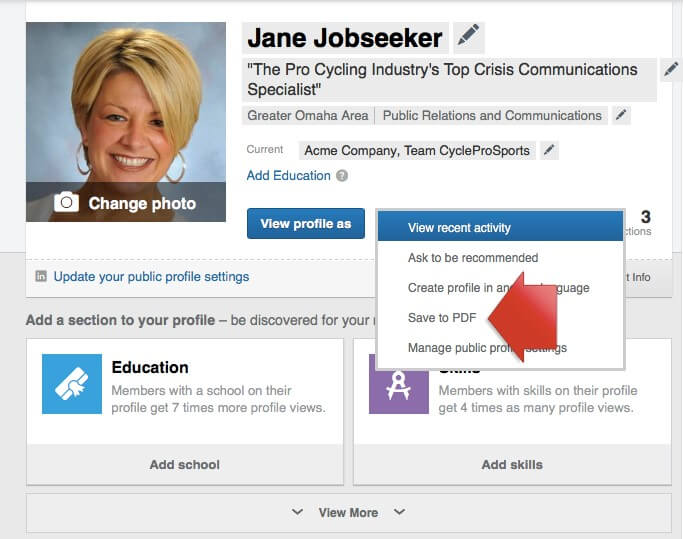 Job Seekers Update LinkedIn Profile Image 3
