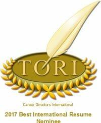 Best International Resume Award