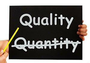 Pointing To Quality Not Quantity Words On Board